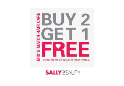 sally beauty buy 2 get 1 free