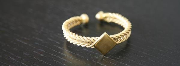 Gold-dipped Fulani bracelet by Fulaba
